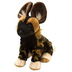 Wild Republic 10900 CK African Wild Dog Plush Toy, Dark Brown, 30 cm