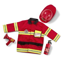 Melissa & Doug Fire Chief Role Play Costume Dress