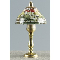 Rulke Rulke010463 Table Lamp with Brass Base and Colourful Porcelain Screen