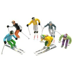 Jaegerndorfer JaegerndorferJC54400 Standing Figures with Head Ski and Poles (6