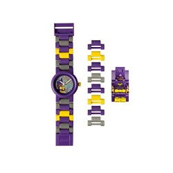 DC Comics Lego Batman Movie Batgirl Kids Minifigure Link Buildable Watch | Purple/Yelow | Plastic | 28Mm Case Diameter| Analogue