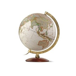 National Geographic 8007239978737 30 cm Edge Executive Antique Reference Illuminated Globe