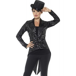 Smiffy's 46959L Sequin Tailcoat Ladies Jacket (Large)