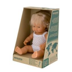 Miniland Miniland31152 38 cm European Girl Doll with Underwear in Box