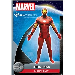 Official Iron Man Basic Morphsuit Fancy Dress Costume