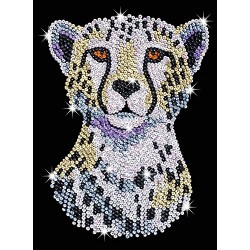 sequin art 1605 Snowy Cheetah Crafy Kit