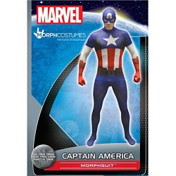 Official Captain America Basic Morphsuit Fancy Dress Costume