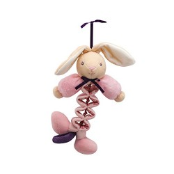 Kaloo Petite Rose Mini Rabbit Musical Zig Plush Toy