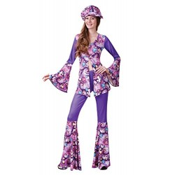 Bristol Novelty AC755 Groovy Hippy Woman Costume, Size 10