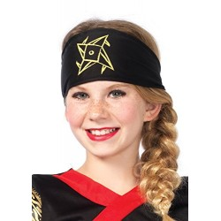 Leg Avenue Kids Ninja Warrior Costume (Medium, Black/Red)