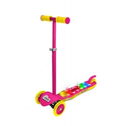 OZBOZZ SV13942 Light Burst Scooter, Pink and Yellow