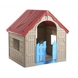 Keter Wonderfold Indoor/Outdoor Children's Folding Playhouse, 101.8 x 89.7 x 110.6 cm