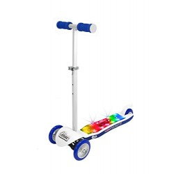 OZBOZZ SV13793 Light Burst Scooter, White and Blue
