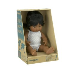 Miniland Miniland31158 38 cm Hispanic Girl Doll with Underwear in Box