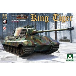 Takom 2073 Model Kit WWII German Heavy Tank SD. KFZ. 182 King Tiger Henschel Turret with Interior