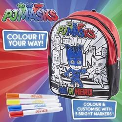 PJ Masks 21303 Colour Your Own Backpack Set