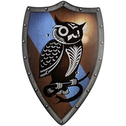 BestSaller BestSaller1147 49 x 32 cm Wooden Owlhort Knight Shield with 2 Leather Handles