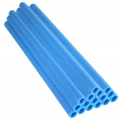 Upper Bounce Trampoline Pole Foam Sleeves (Set of 16, Blue)