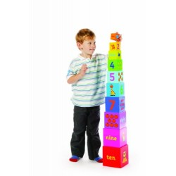 Tidlo Wooden Stacking Rainbow Cubes