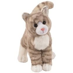 Cuddle Toys 1866 30 cm Long Zipper Grey Tabby Cat Plush Toy