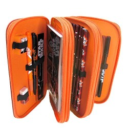 Cife 708970 – Tripledecker 43 Pieces Star Wars Filled Pencil Case
