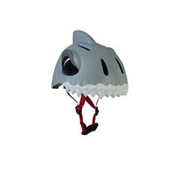 Abus Crazy, Safety Helmet for Unisex children, Grey (Gris/Blanc), 49