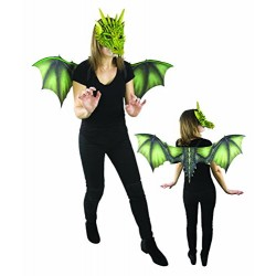 P 'tit clown 16391 Set with Dragon Wings 40 x 95 cm + Mask, One Size