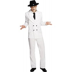 Fever Adult men's Gangster Costume, Jacket, trousers and Tie, Twenties, Size L, 31079