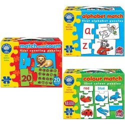 Orchard Toys Match and Count with Alphabet Match Bundle