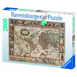 Ravensburger Map of the World From 1650, 2000pc Jigsaw puzzle