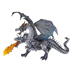 Papo Two Headed Dragon Figure (Silver)
