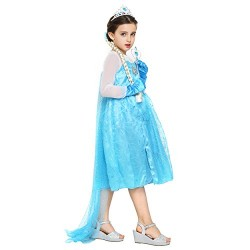 Girls Fancy Elsa Frozen Princess Dress Set
