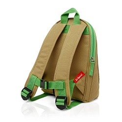Zip & Zoe Mini Rucksack with Reins Children's Backpack, 25 cm,Green, Dylan Dino Face
