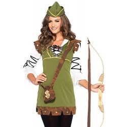Leg Avenue Robin Hood Costume (Medium/Large, Honey Green)