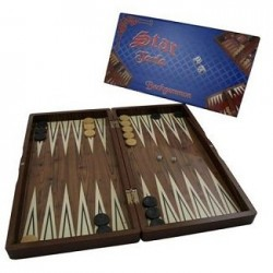 Staroyun Staroyun1020180 25 x 48 x 6 cm Big Star Polyester Walnut Backgammon