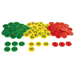 Inspirational Classrooms 3125202 Place Value HTU Counters and Work Card Educational Toy (Pack of 300)