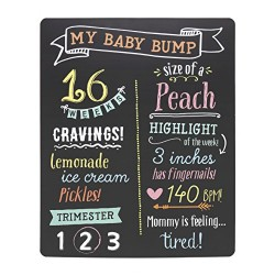 Pearhead Pregnancy Photo Sharing Chalkboard with Chalk