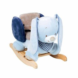 Nattou Alex and Bibou Collection Rocker, Bibou the Rabbit