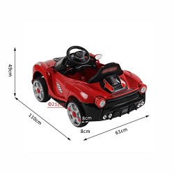 HOMCOM Children Kids Electric Ride on Car 2 x Motors 12V Battery Operated Toy Car w/ Remote Control (Red)
