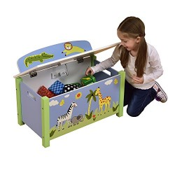 Liberty House Toys Safari Big Toy Box, Wood, Multi