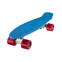 Ridge Retro Kids' Street Skateboard Blue/Red, 22 inch plastic frame, 1 speed 78a pu rubber wheels prefitted with abec 7 bearing