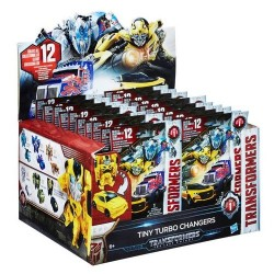 Transformers C0882 Tiny Turbo Changers Figure with Display Blind Bag (Pack of 24)