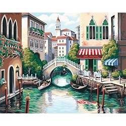 Dimensions Paintworks Paint by Numbers Scenic Canal Kit