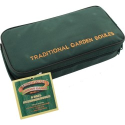 Traditional Garden Games 8 x 73mm Boules in Canvas Bag