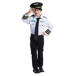 Dress Up America Airline Pilot Role Play Set Costume for Kids