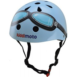 Kiddimoto Kids Blue Goggle Helmet