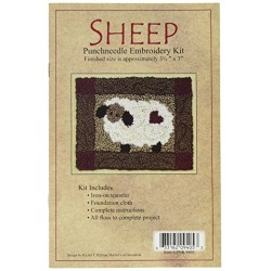 Rachel's Of Greenfield Rachel's of Greenfield Sheep Punch Needle Kit, 3.75 by 4