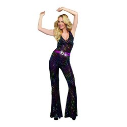 Dreamgirl 9469 Disco Doll Costume, Medium