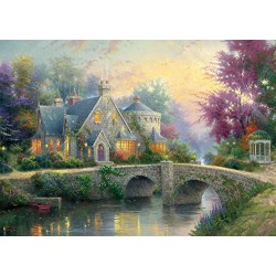 Schmidt Spiele 59468 Winter in Lamplight Manour Puzzle (2 x 1000