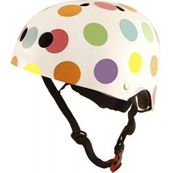 Kiddimoto Kids Pastel Dotty Helmet